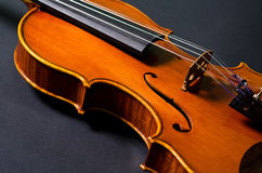 Violin part on black Royalty Free Stock Image