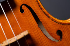 Violin part on black Royalty Free Stock Photos
