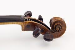 Violin peg box Stock Photos