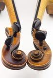 Violin peg boxes Royalty Free Stock Photography