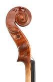 Violin peg and scroll Stock Image