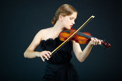 Violin performance Stock Image