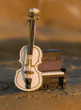 Violin with Piano Royalty Free Stock Images