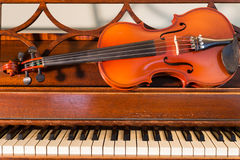 Violin and Piano Stock Photo