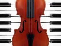 Violin and piano. The violin and two piano Royalty Free Stock Photography