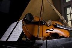 Violin and piano Stock Photos