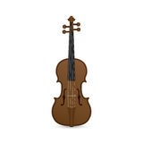 Violin. Picture of violin isolated on white background Royalty Free Stock Image