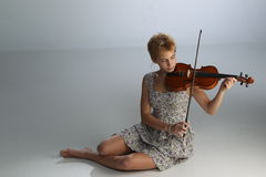 Violin Player Royalty Free Stock Photos