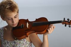 Violin Player Royalty Free Stock Photo