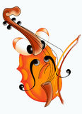 Violin player. Nice color illustration of a violin Stock Image