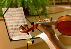 Violin Player. During a concert Royalty Free Stock Photos