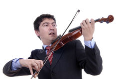 Violin player Stock Image