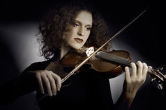 Violin player classical music Stock Photos