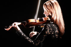 Violin player classical musician violinist Stock Image