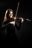 Violinist playing violin Royalty Free Stock Images