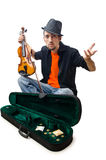 Violin player isolated Royalty Free Stock Image