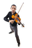 Violin player isolated Royalty Free Stock Photos