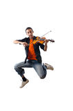 Violin player isolated Royalty Free Stock Photography