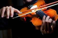 Violin player playing Stock Photography