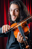 Violin player playing Royalty Free Stock Images