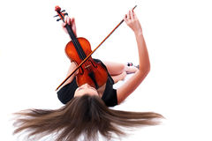 Violin player posing Royalty Free Stock Images