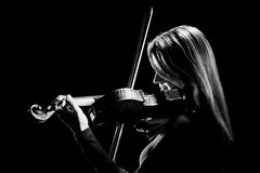 Violin player violinist. Musical instruments of orchestra Playing classical musician Stock Photos
