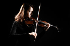 Violin player violinist playing Royalty Free Stock Photo