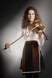 Violin player violinist portrait Royalty Free Stock Images