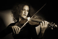 Violin player violinist Stock Photography