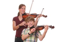 Violin players Royalty Free Stock Photos