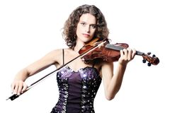 Violin playing violinist Royalty Free Stock Photos