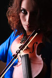 Violin playing violinist musician Stock Photos
