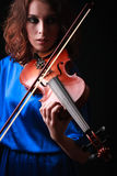 Violin playing violinist musician Royalty Free Stock Image
