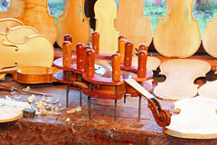 Violin in press Stock Photos