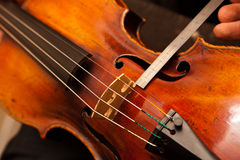 Violin repairs Stock Photos