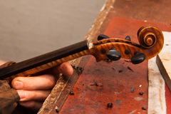 Violin repairs Royalty Free Stock Image
