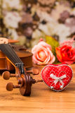 Violin and rose Royalty Free Stock Photography