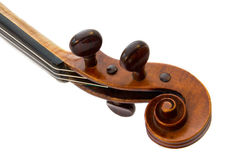 Violin Scroll. Isolated on white background Stock Photo