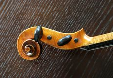 Violin scroll Royalty Free Stock Photography