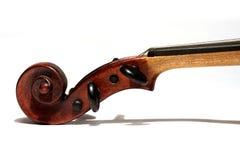 Violin scroll stock image
