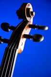 Violin Scroll Blue Bk Royalty Free Stock Photo