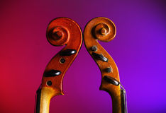 Violin scrolls Royalty Free Stock Photography