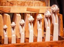 Violin scrolls Stock Photo