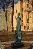 Violin sculpture. Andrey Petrov park in St. Petersburg stock photos