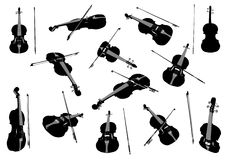 Violin Set Royalty Free Stock Photo