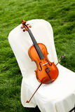Violin on a Chair Royalty Free Stock Photography