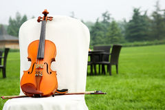 Violin on a Chair Stock Image