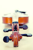 Violin shape. Classic violin shape on white background Royalty Free Stock Images
