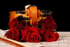 Free Violin Sheet Music And Rose Stock Photos - 31010903