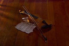 Violin sheet and music Royalty Free Stock Photography